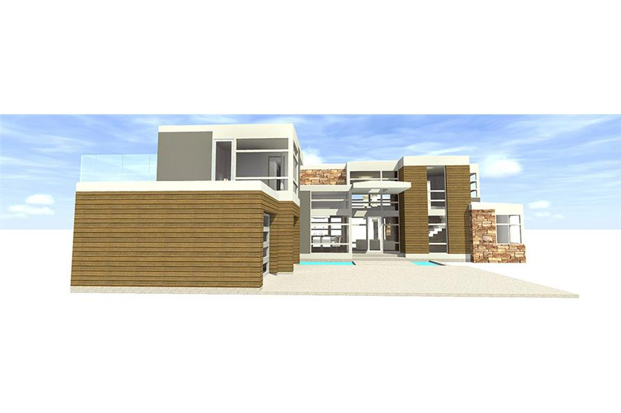 Home Plan Rendering of this 4-Bedroom,3166 Sq Ft Plan -3166