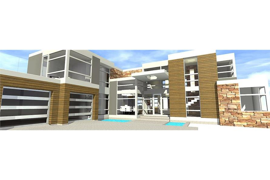 4-Bedroom, 3166 Sq Ft Modern House Plan - 116-1119 - Front Exterior