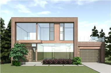 4-Bedroom, 2754 Sq Ft Modern Home Plan - 116-1121 - Main Exterior