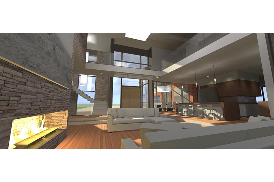 Living Room of this 5-Bedroom,5165 Sq Ft Plan -5165