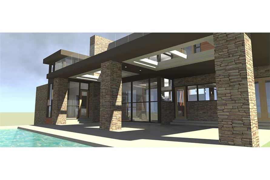 Patio of this 5-Bedroom,5165 Sq Ft Plan -5165
