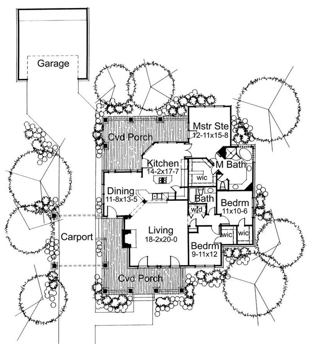 Main Floor Plan DW1657