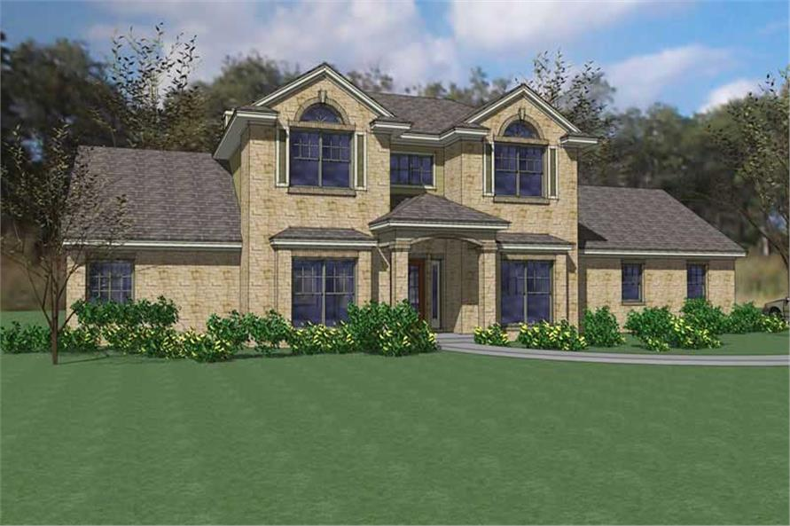 3-Bedroom, 2811 Sq Ft House Plan - 117-1002 - Front Exterior