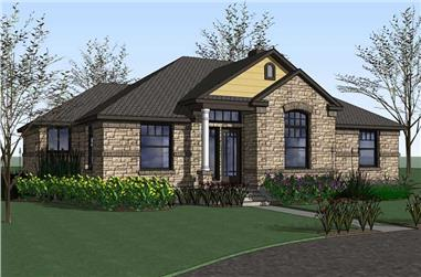 4-Bedroom, 2025 Sq Ft House Plan - 117-1003 - Front Exterior