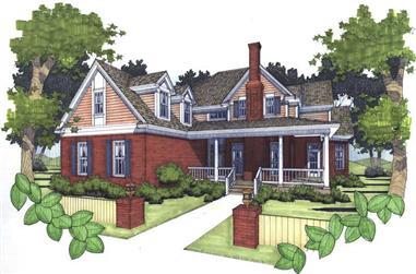 3-Bedroom, 2021 Sq Ft Home Plan - 117-1004 - Main Exterior