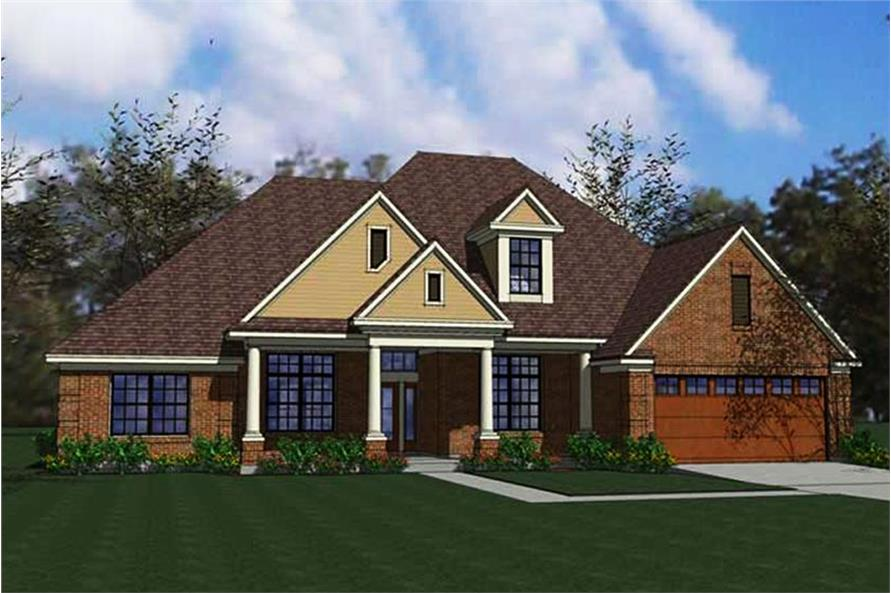 Ranch home plan (ThePlanCollection: House Plan #117-1005)