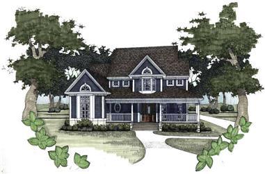 3-Bedroom, 1899 Sq Ft Home Plan - 117-1006 - Main Exterior