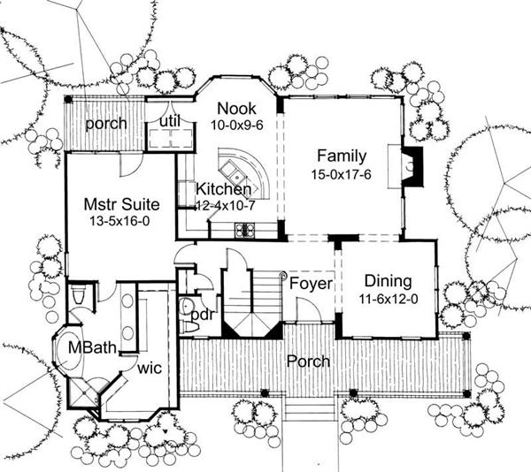 Main Floor Plan DW1899