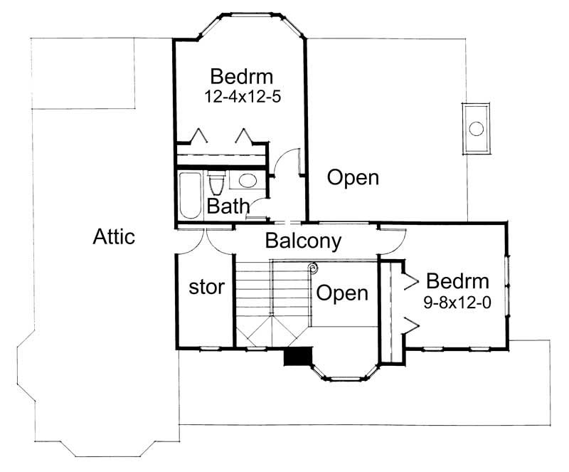 Second Floor Plan DW1899