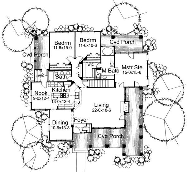 Main Floor Plan DW1883