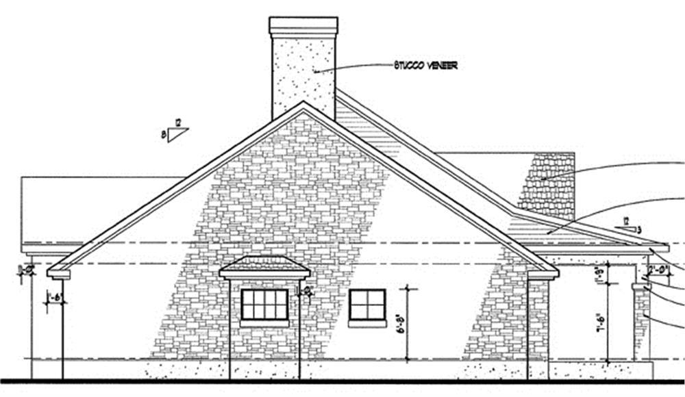 117-1010: Home Plan Left Elevation
