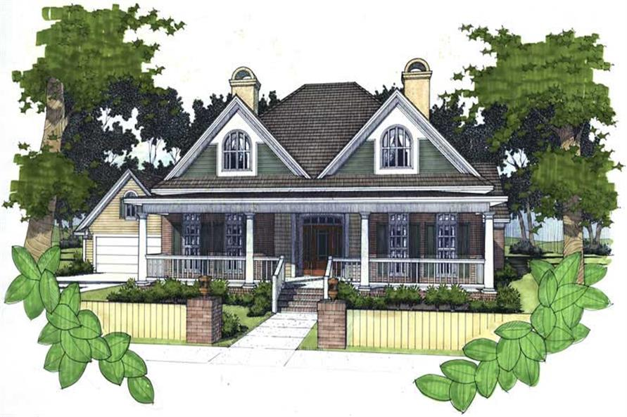 3-Bedroom, 1858 Sq Ft Coastal House Plan - 117-1011 - Front Exterior