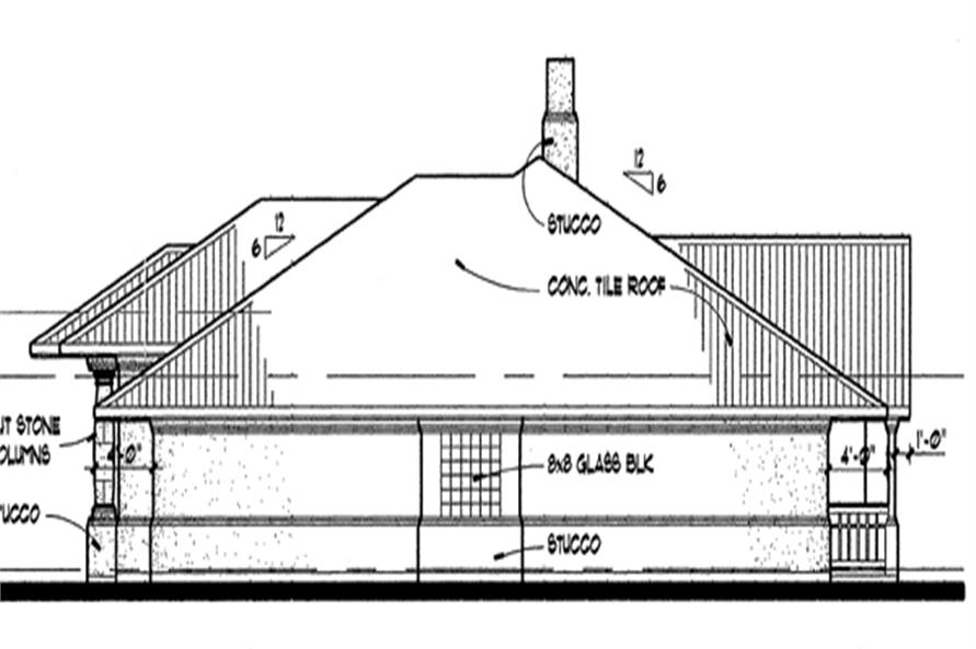 117-1012: Home Plan Right Elevation