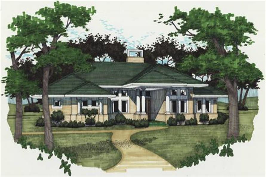 3-Bedroom, 1830 Sq Ft Contemporary Home Plan - 117-1012 - Main Exterior