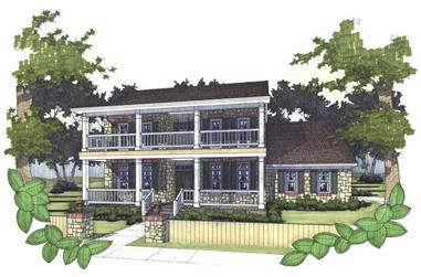 3-Bedroom, 1753 Sq Ft Southern Home Plan - 117-1015 - Main Exterior