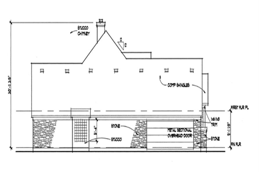 117-1017: Home Plan Left Elevation
