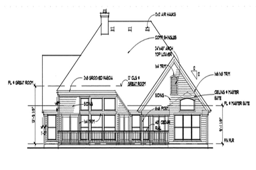 117-1017: Home Plan Rear Elevation