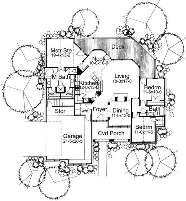 Main Floor Plan DW1675