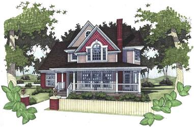 4-Bedroom, 1898 Sq Ft Farmhouse Home Plan - 117-1019 - Main Exterior