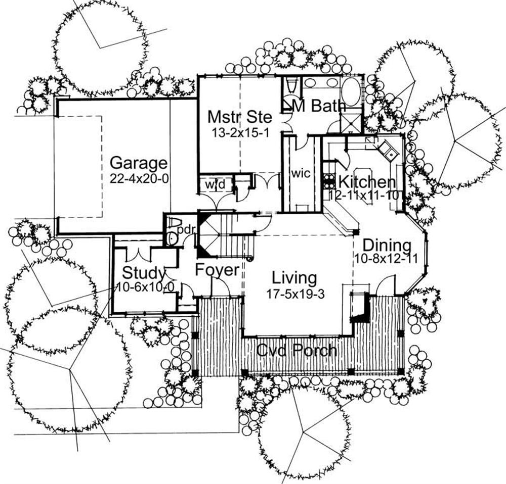 Main Floor Plan DW1898