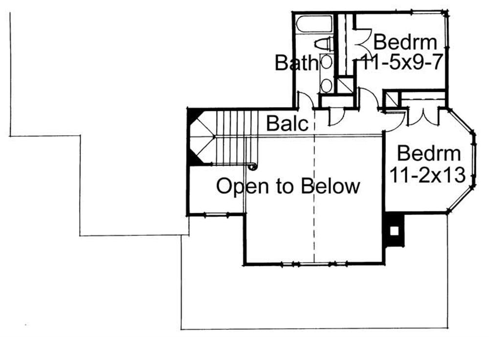Second Floor Plan DW1898