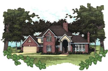 3-Bedroom, 2789 Sq Ft House Plan - 117-1020 - Front Exterior