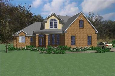 4-Bedroom, 2549 Sq Ft House Plan - 117-1021 - Front Exterior