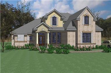 4-Bedroom, 2549 Sq Ft House Plan - 117-1022 - Front Exterior