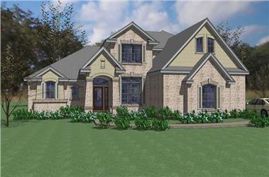 4-Bedroom, 2549 Sq Ft Contemporary Home Plan - 117-1023 - Main Exterior
