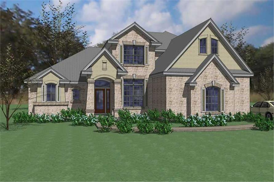 4-Bedroom, 2549 Sq Ft House Plan - 117-1023 - Front Exterior