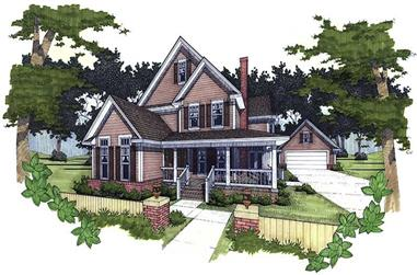 3-4-Bedroom, 2274 Sq Ft House Plan - 117-1025 - Front Exterior
