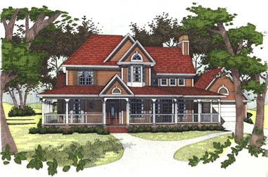 4-Bedroom, 2175 Sq Ft House Plan - 117-1027 - Front Exterior