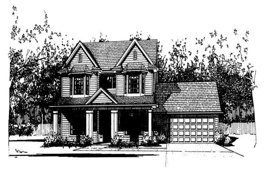4-Bedroom, 2127 Sq Ft House Plan - 117-1029 - Front Exterior