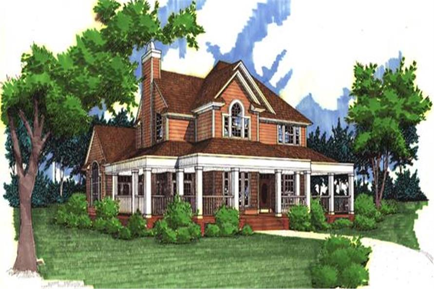 Home Plan Rendering of this 3-Bedroom,2112 Sq Ft Plan -117-1030