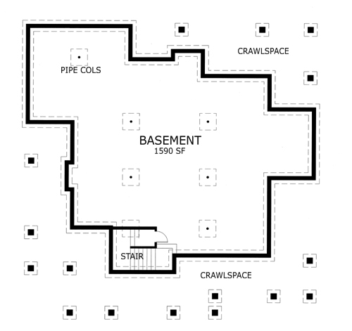 117-1030: Floor Plan Basement