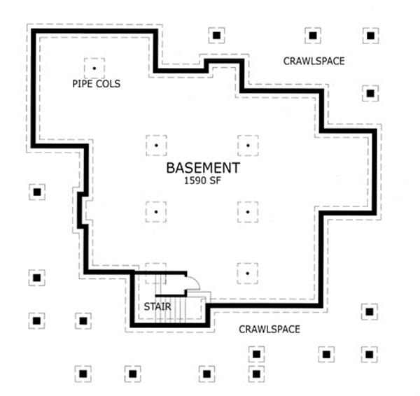 117-1030: Floor Plan Basement