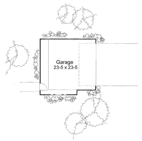 117-1030: Floor Plan Garage