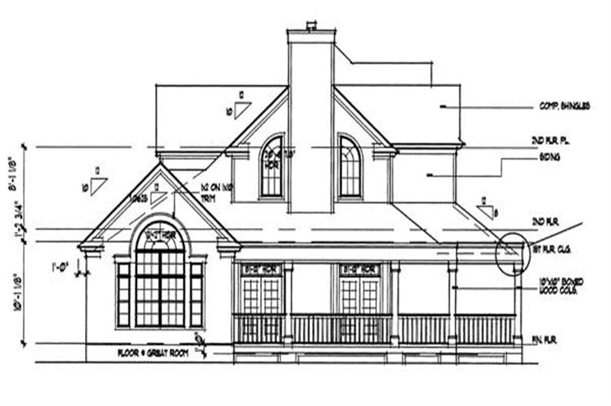 Home Plan Left Elevation of this 3-Bedroom,2112 Sq Ft Plan -117-1030