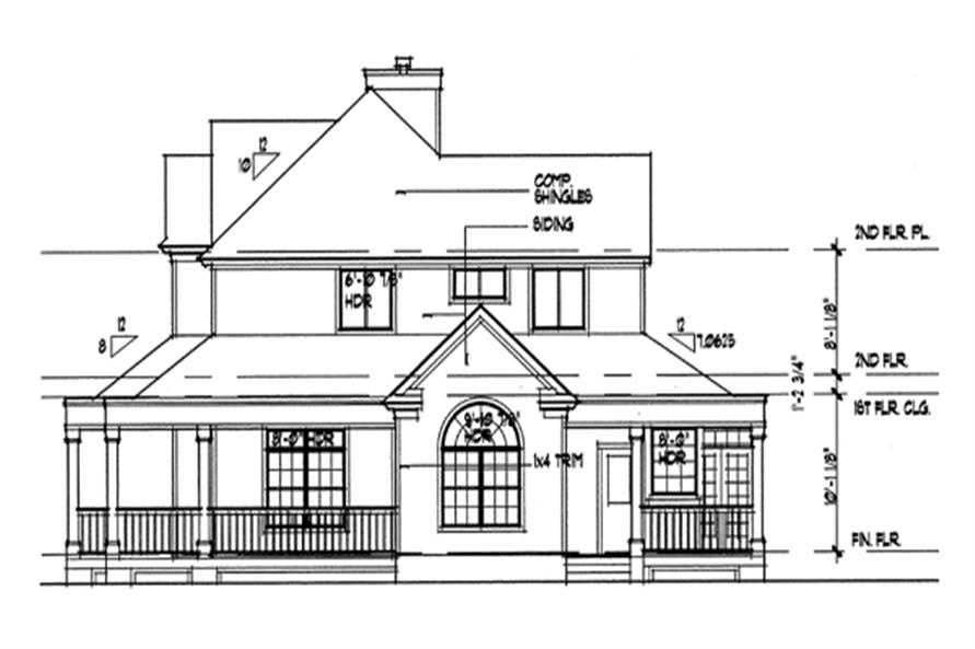 Home Plan Right Elevation of this 3-Bedroom,2112 Sq Ft Plan -117-1030