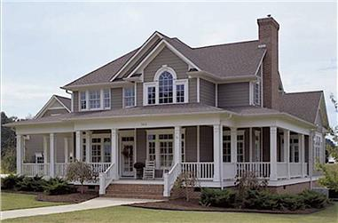 3-Bedroom, 2112 Sq Ft Farmhouse Home - Plan #117-1030 - Front Exterior
