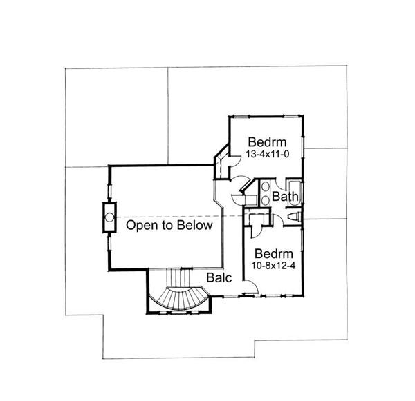 Second Floor Plan DW2112