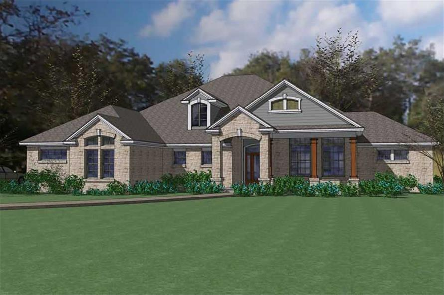 Main image for house plan # 20797