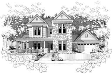 4-Bedroom, 2296 Sq Ft House Plan - 117-1033 - Front Exterior