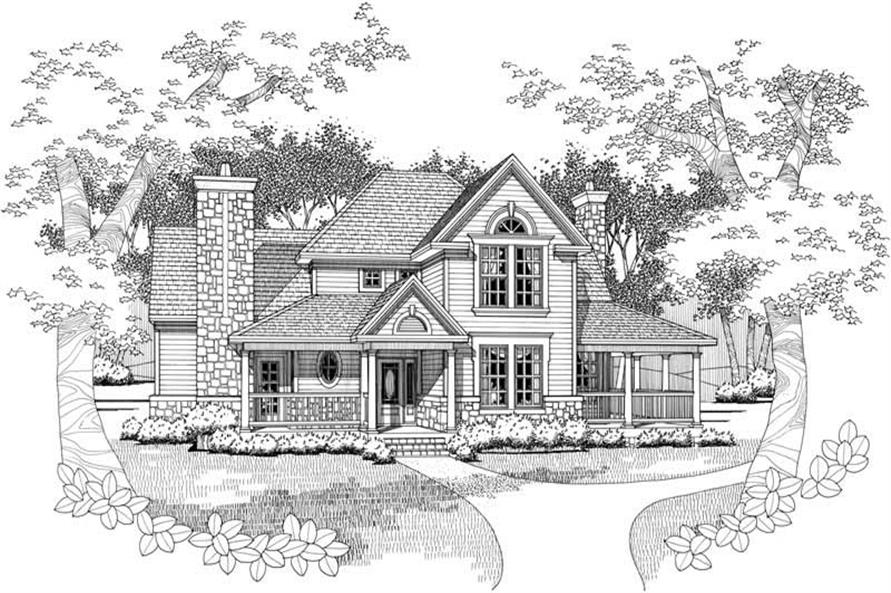 Home Plan Rendering of this 3-Bedroom,1972 Sq Ft Plan -117-1034