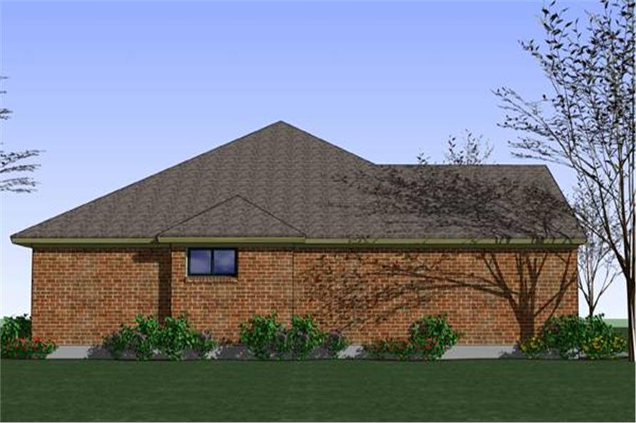 Home Plan Left Elevation of this 3-Bedroom,1329 Sq Ft Plan -117-1035