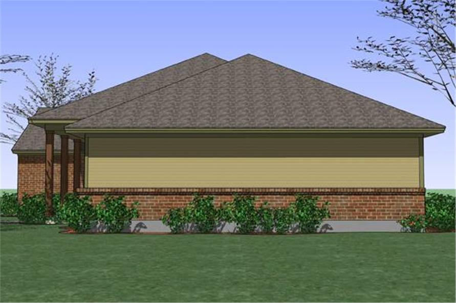 Home Plan Right Elevation of this 3-Bedroom,1329 Sq Ft Plan -117-1035