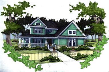 3-Bedroom, 1952 Sq Ft Home Plan - 117-1036 - Main Exterior