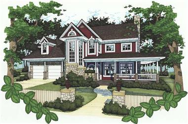 3-Bedroom, 1882 Sq Ft Country House Plan - 117-1037 - Front Exterior