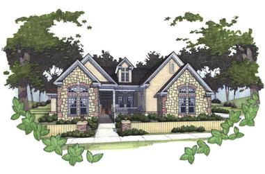 3-Bedroom, 1779 Sq Ft Tuscan Home Plan - 117-1039 - Main Exterior