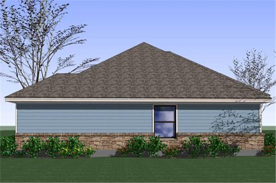 Home Plan Left Elevation of this 4-Bedroom,1553 Sq Ft Plan -117-1040